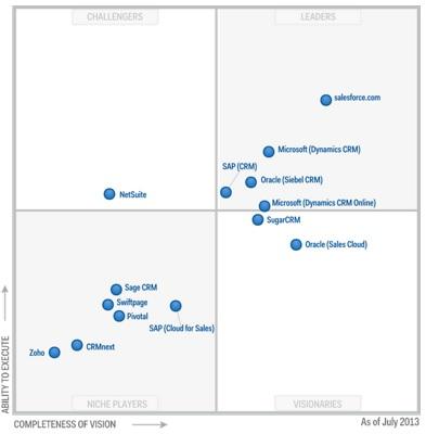 El mercado de aplicaciones de sistemas de gestión de ventas en 2013